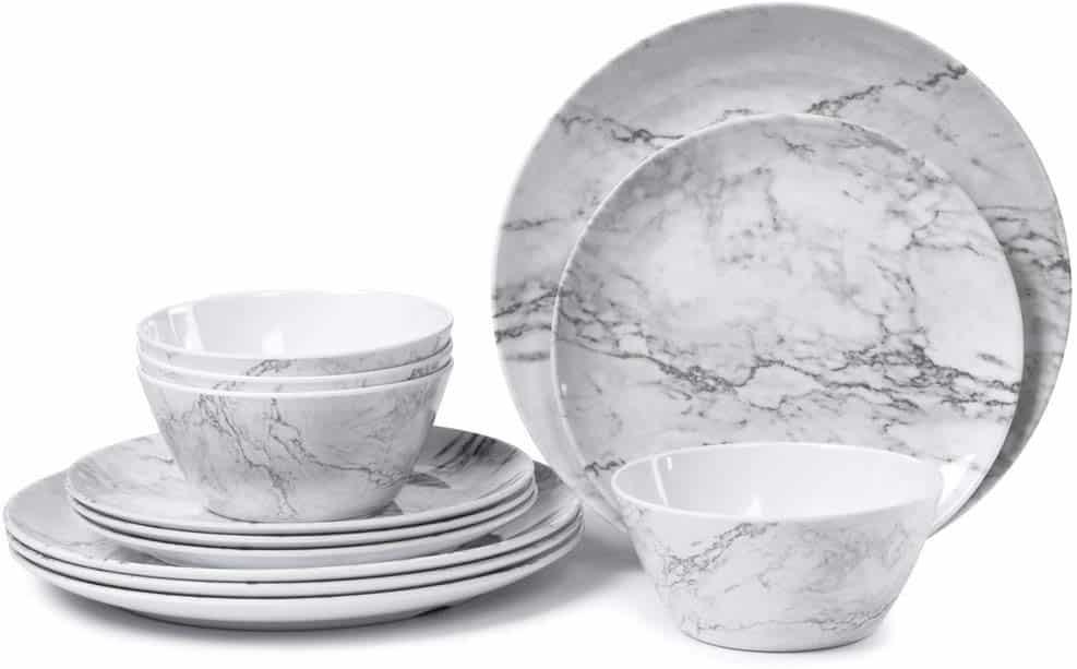 melamine-plastic-dinnerware-marble