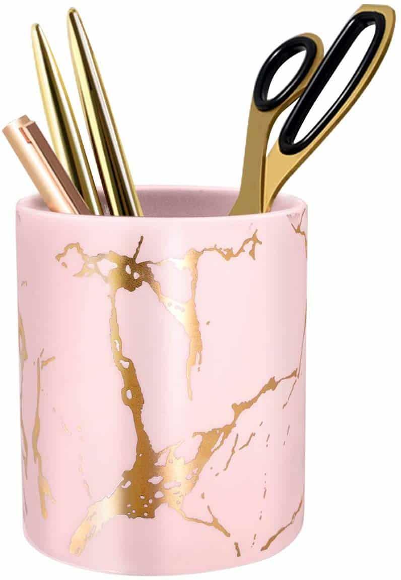 pink-desk-accessories-pencil-holder