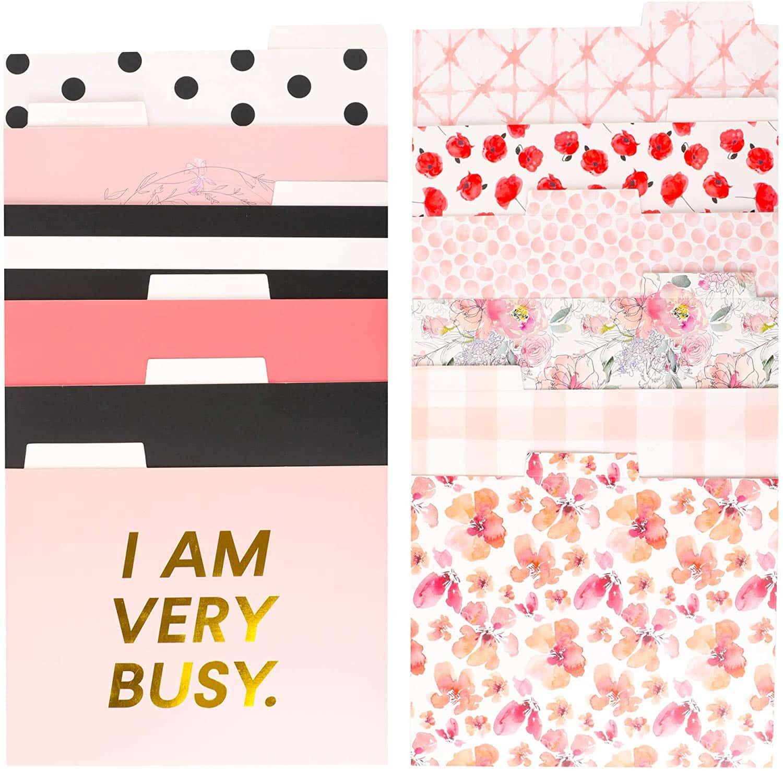 pink-desk-accessories-folders