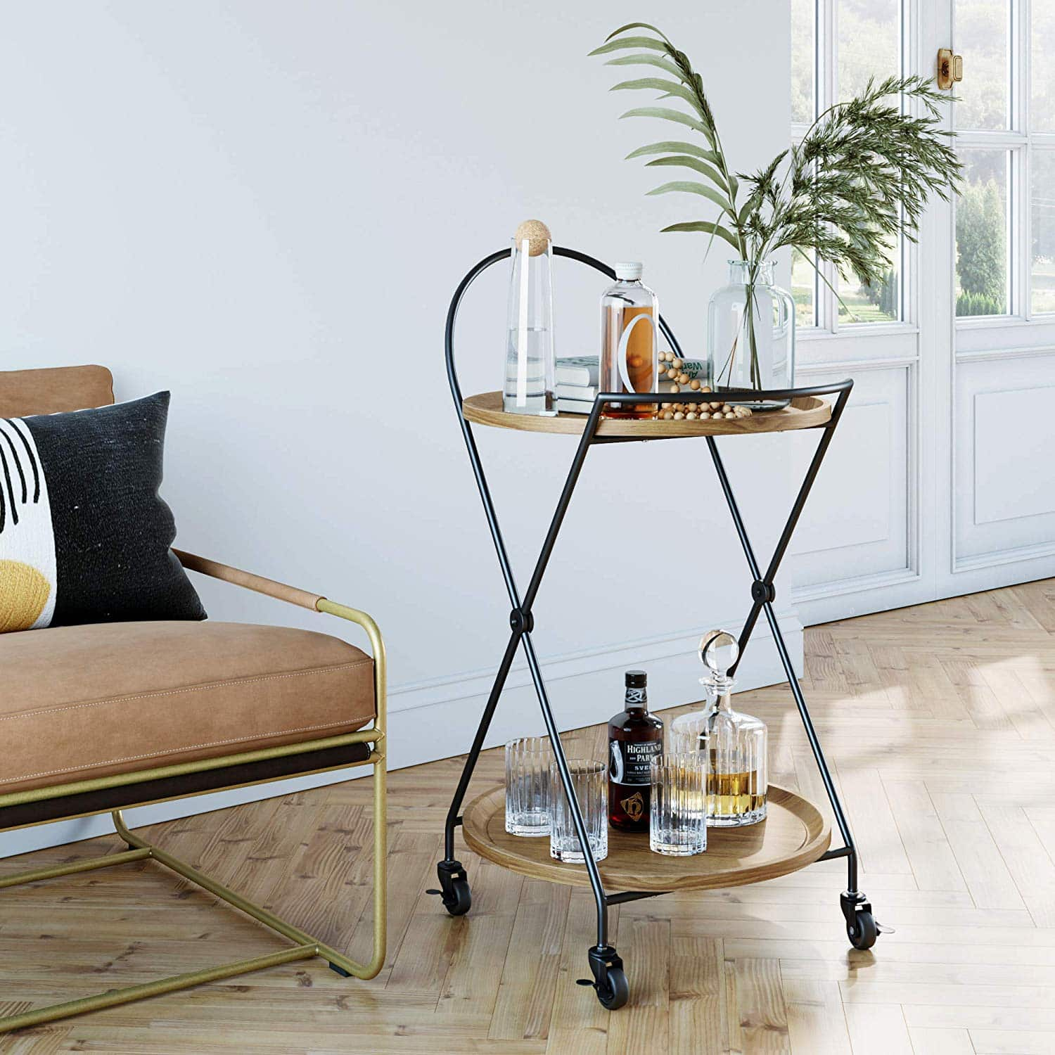 tropical-decor-bar-cart