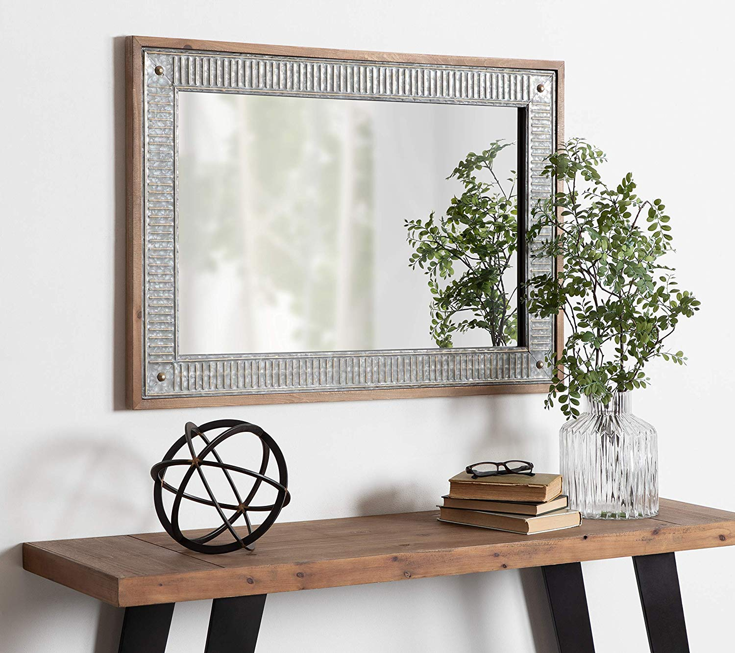 entryway-mirror-metal-wood