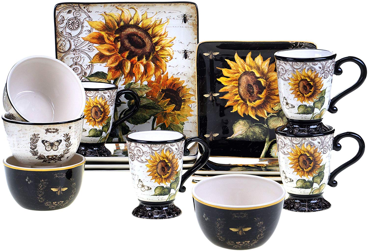 sunflower-kitchen-decor-dinner-set