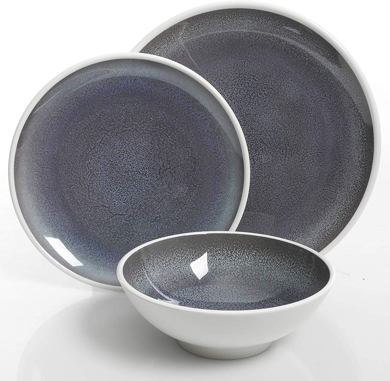melamine-plastic-dinnerware-gray