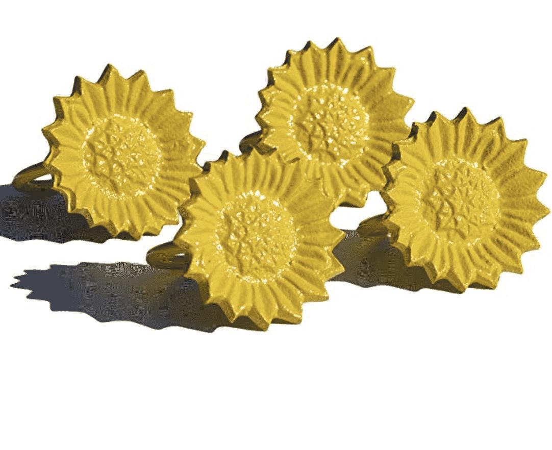 sunflower-kitchen-decor-napkin-rings